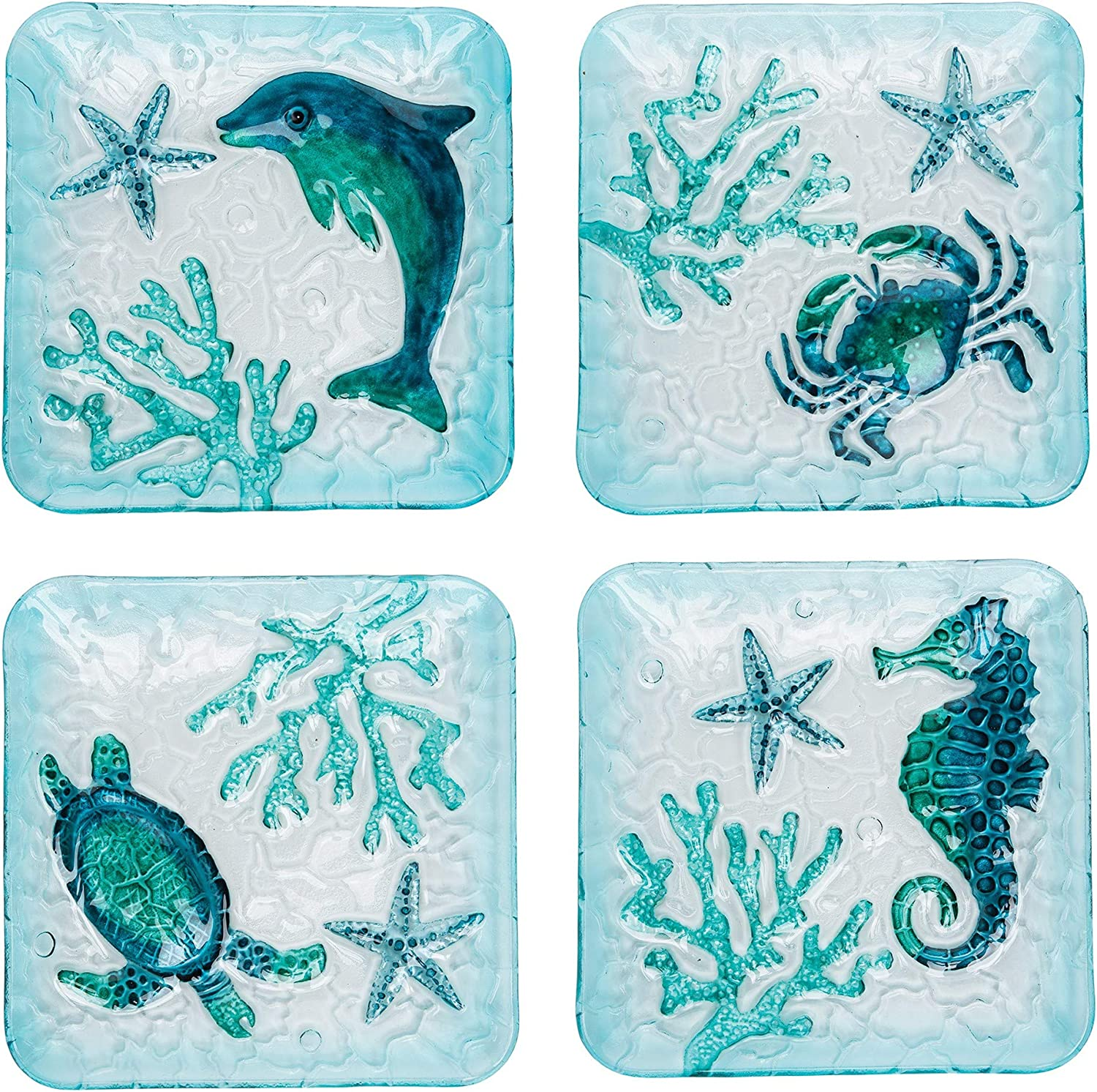 CF Home Coastal Salad National products Plate A Crab Se 4 Starfish Turtle Dolphin Super special price