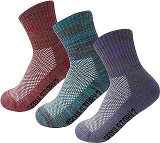 SEOULSTORY7 Women's Mid Cushion Low Cotton Sports Athletic Hiking/Performance Socks