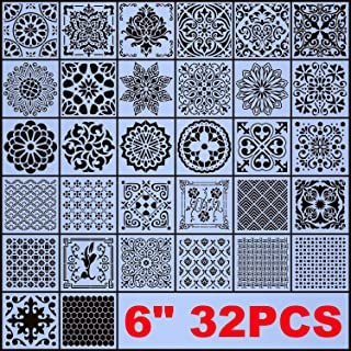 Sponsored Ad - AK KYC Stencils Mandala Painting Stencil Stencils for Painting (6x6 inch Small Size) on Wood Wall Floor Til...