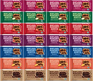 Stone Ground Whole Wheat Fig Bars - 28 Count Variety Pack All Natural, Non-GMO Snack Variety Box
