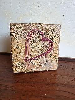 Scatola con rilievo cuore, rustico, Idea regalo, San Valentino, Anniversario, Festa della Mamma, Compleanno