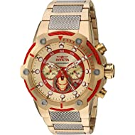 Invicta Men's Marvel Quartz Watch with Stainless-Steel Strap, Two Tone, 19 (Model: 25781