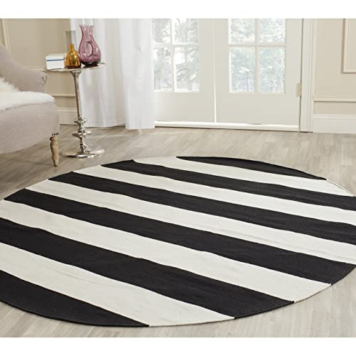 Black And White Round Rug Amazon Com