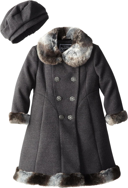 Genuine Rothschild Little Girls' Faux Wool Over item handling ☆ Coat Skater