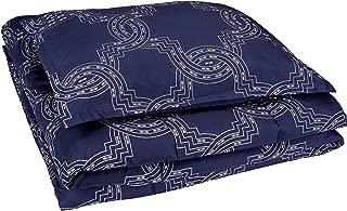 AmazonBasics Comforter Set, Twin / Twin XL, Navy Nautical Knot, Microfiber, Ultra-Soft