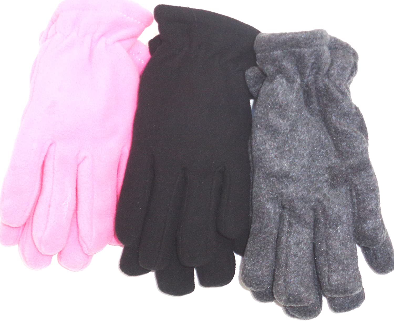 Set of Three Pairs Very Warm Fleece Gloves for Women and Teens