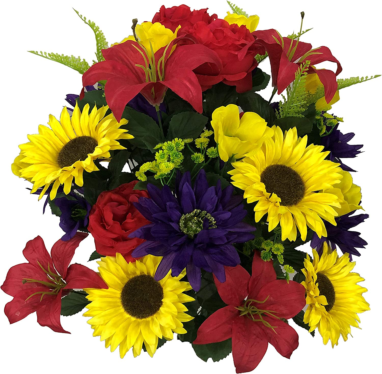 Admired By Nature Artificial Spring 36 Dahlia Mix stem New Cash special price life Sunflower