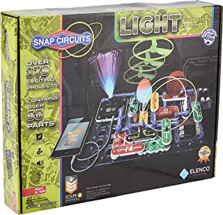 Snap Circuits LIGHT Electronics Exploration Kit | Over 175 Exciting STEM Projects | Full Color Project Manual | 55+ Snap C...