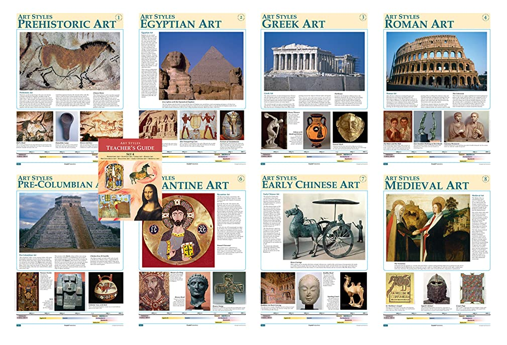 Crystal Productions CP6124 Art Styles, Early Art Prehistoric/Medieval,Grade