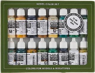 Vallejo val899Peinture Model Color WWII Alliés de peinture acrylique–couleurs assorties (Lot de 16)