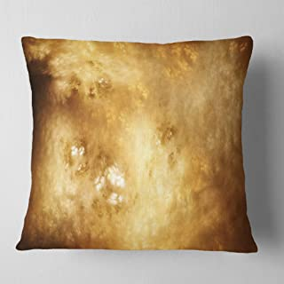 Designart Perfect Brown Starry Sky' Abstract Throw Living Room, Sofa, Pillow Insert + Cushion Cover Printed On Both Side 1...