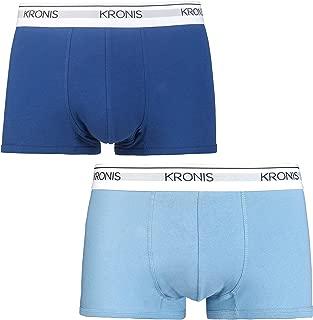 KRONIS Mens Underwear Low Rise Trunks 2Pk Italian Designed Premium 180gsm Cotton