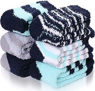 Fuzzy Socks For Men Socks 6 Pairs Thick Warm Cabin Winter Cute fluffy Socks Stocking Stuffer Socks