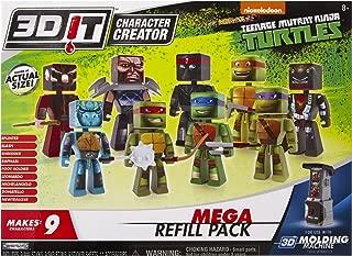 3D Character Creator Teenage Mutant Ninja Turtle Mega Refill Pack Novelty Toy