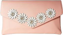 Arielle Flower Applique Envelope Clutch