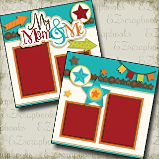 MY MOM AND ME BOY - Premade Scrapbook Pages - EZ Layout 2566