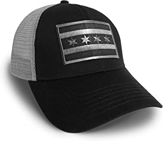 chicago flag hat black