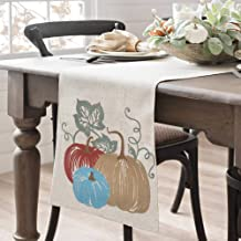 BETTINE Table Runner 72 inch,Swehome Halloween and Thanksgiving Holiday Table Runners,Fall Autumn Harvest Decorations,Line...