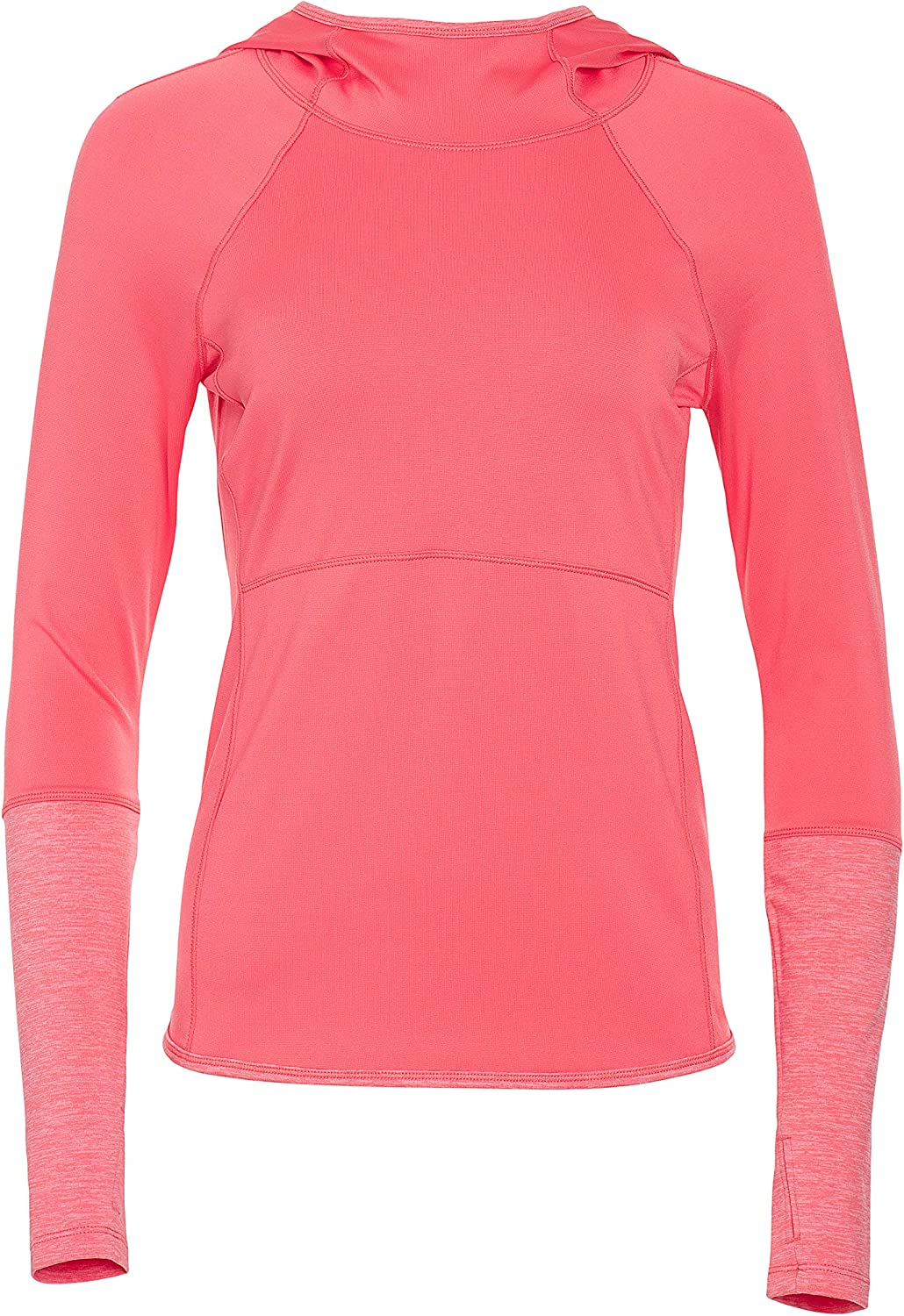 Layer 8 Ladies Long Sleeve Hooded Top with Side Pulls