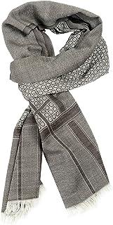 Salvatore Ferragamo Wool Cashmere Multi-Color Logo Printed Unisex Scarf