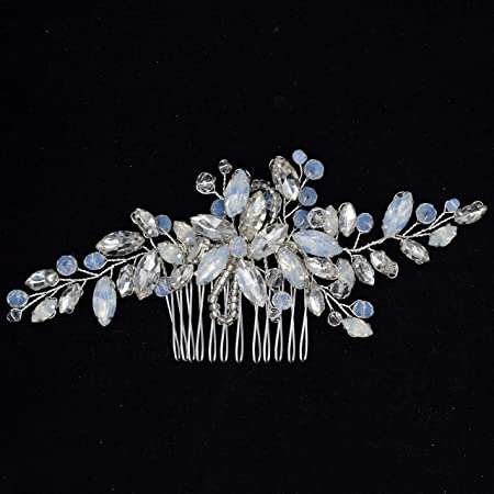 Bridal Hair Comb,Vintage Style Hair Comb,Double Sided Crystal Hair Comb,Wedding Hair Comb,Bridal Handmade Flower Hair Comb,Wedding Headpiece