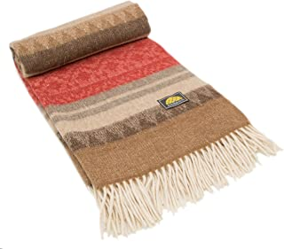 NOT A COUNTERFEIT - AUTHENTIC ALPACA Throw Blanket - COZINESS Guaranteed by the Best Natural THERMAL MANAGEMENT: Never Too Warm or Cold, ALWAYS CUDDLY! - Premium Quality - Classic Southwest Design