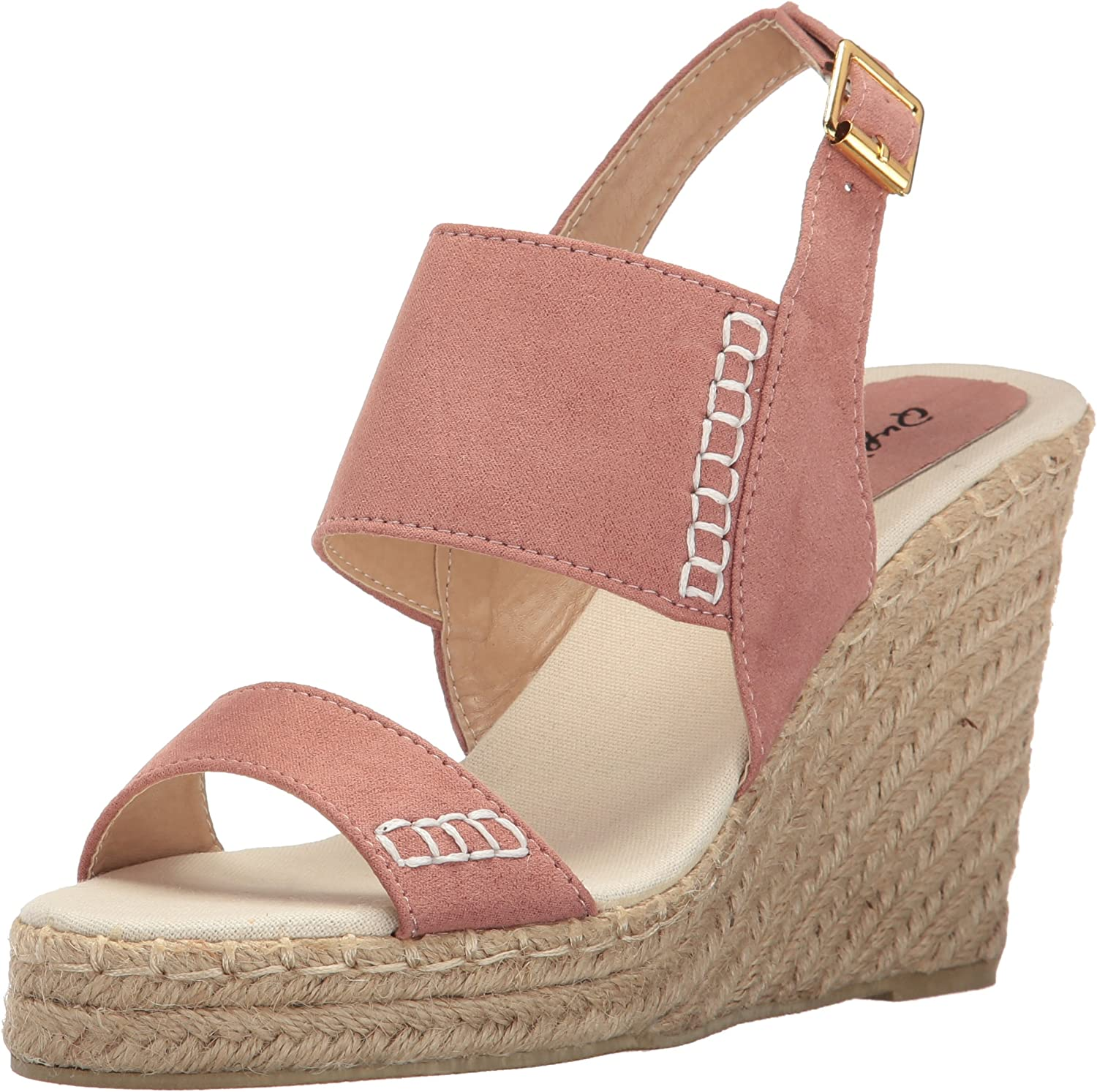 Qupid Womens Knox-01xx Wedge Sandal