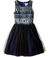Us Angels Sleeveless Sequin w/ Full Skirt (Big Kids)
