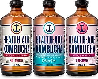 Sponsored Ad - Health-Ade Kombucha Tea Organic Probiotic Drink, 12 Pack Case (16 Fl Oz Bottles), Fan Favorite Variety Pack...