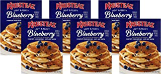 Krusteaz Light & Fluffy Complete Pancake Mix, Blueberry, 25.2 OZ (Pack of 6)