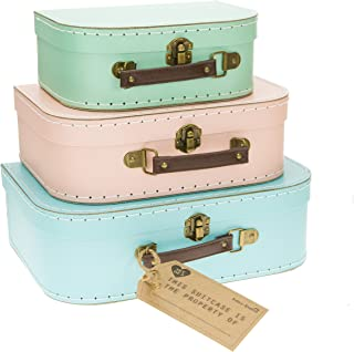 Sass & Belle Pastel (Set of 3) Retro Suitcases