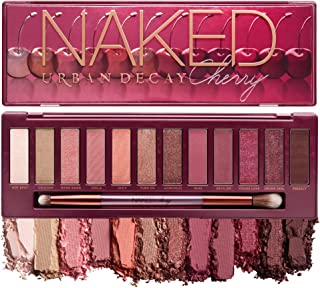Urban Decay Naked Cherry Eyeshadow Palette, 12 Cherry Neutral Shades - Ultra-Blendable, Rich Colors with Velvety Texture -...