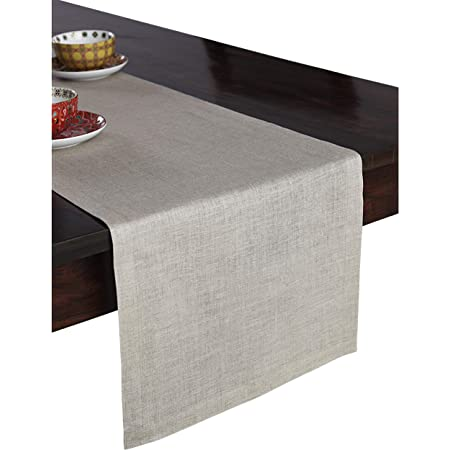 Beige 100/% Pure Linen Table Runner PROVIMO HOME Linen Table Runner Hemstitched Natural and Handcrafted from European Flax 14 x 36 Inch