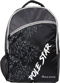 Dorsa Pole Star Casual School Backpack, Black-Grey