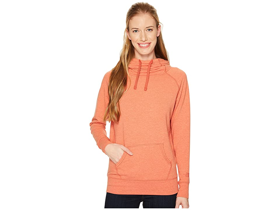The North Face Long Sleeve TNF Terry Hooded Top (Sunbaked Red Heather) Women