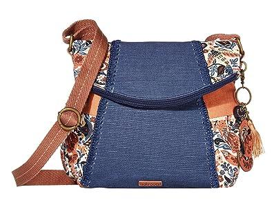 Sakroots Artist Circle Foldover Crossbody (Clay Enchanted Forest) Cross Body Handbags