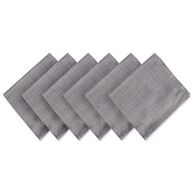 DII Variegated Tabletop, Napkin Set, Gray 6 Count
