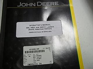 John Deere 300, 300X, 300CX Loaders Operator's Manual (North American Edition)