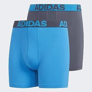 Youth Kids-Boy's Sport Performance Climalite Boxer Brief Underwear (2-Pack), Onix/Solar Blue Solar Blue/Onix, LARGE