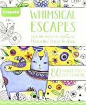 Crayola Whimsical Escapes, Adult Coloring Book, Gift, 80 Pages