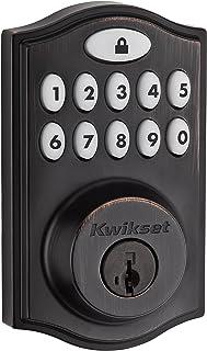 Kwikset 99140-008 SmartCode 914 Keypad Keyless Entry Zigbee Smart Lock Connected Deadbolt Door Lock Featuring SmartKey Security in Venetian Bronze