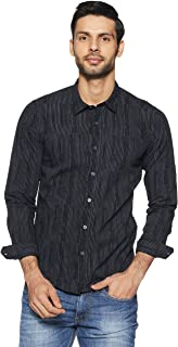 Pepe Jeans Men's Striped Slim Fit Casual Shirt