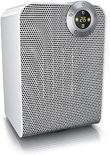 Brandson 986668464 Calefactor, Blanco y plateado, 1800 Watt