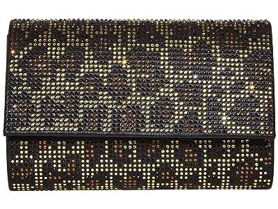 Jessica McClintock Alexis Sparkle Clutch (Leopard) Clutch Handbags