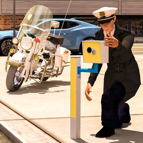 virtueller Verkehrspolizist-Simulator 3D: Verkehrspolizei-Spiele für Kinder