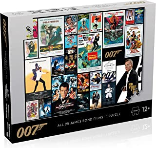 Top Trumps James Bond Puzzle All Movies Poster, Multi, WM01313-ML1-6