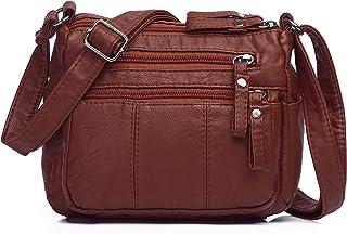Women Crossbody Bags Pocketbooks Soft PU Leather Purses and Handbags Multi Pocket Shoulder Bag Messenger Bag