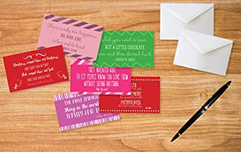 Hearty Cardy Love Quote Greeting Cards 12 Pack - Inspirational Love Quote Cards with Envelopes