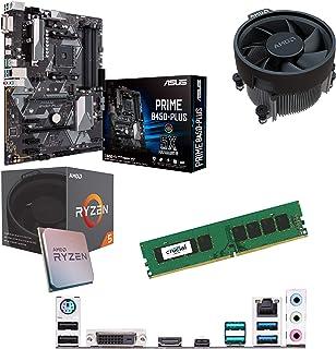 Components4All AMD Ryzen 5 1500 X 3,6 GHz (Turbo 3,7 GHz) fyrkärnig åtta gänga CPU, ASUS PriME B450-Plus moderkort & 4 GB ...