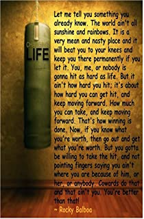 Let Me Tell You…Rocky Balboa's Motivational Poster Print12 X 18 inch, Rolled